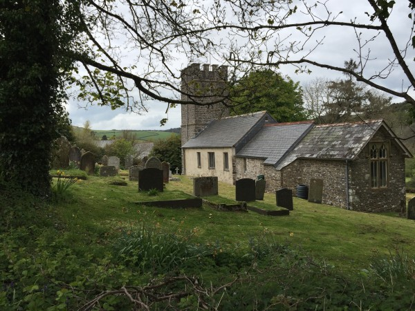 Oare church Lorna Doone walk