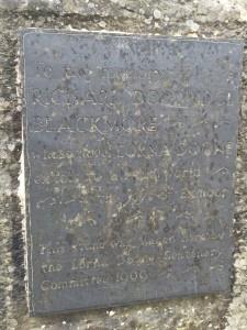 Lorna Doone plaque Doone valley