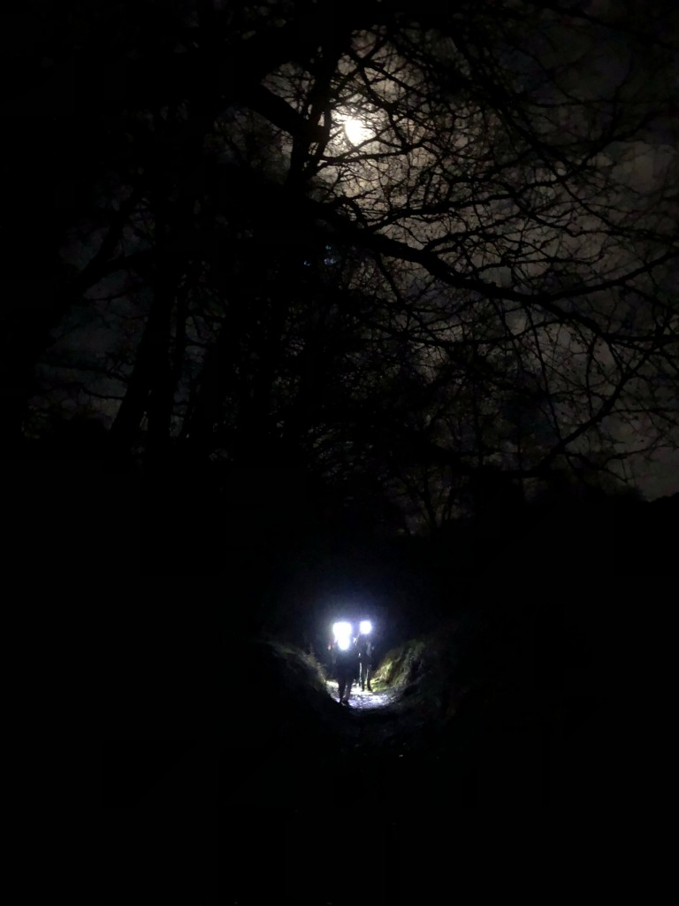 night hike on Exmoor