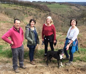 Exmoor guided walks Exford Room Hill