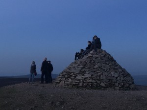 Group guided walk at dunkery beacon