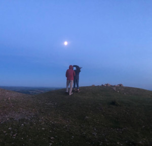 viewing a planet from Exmoor