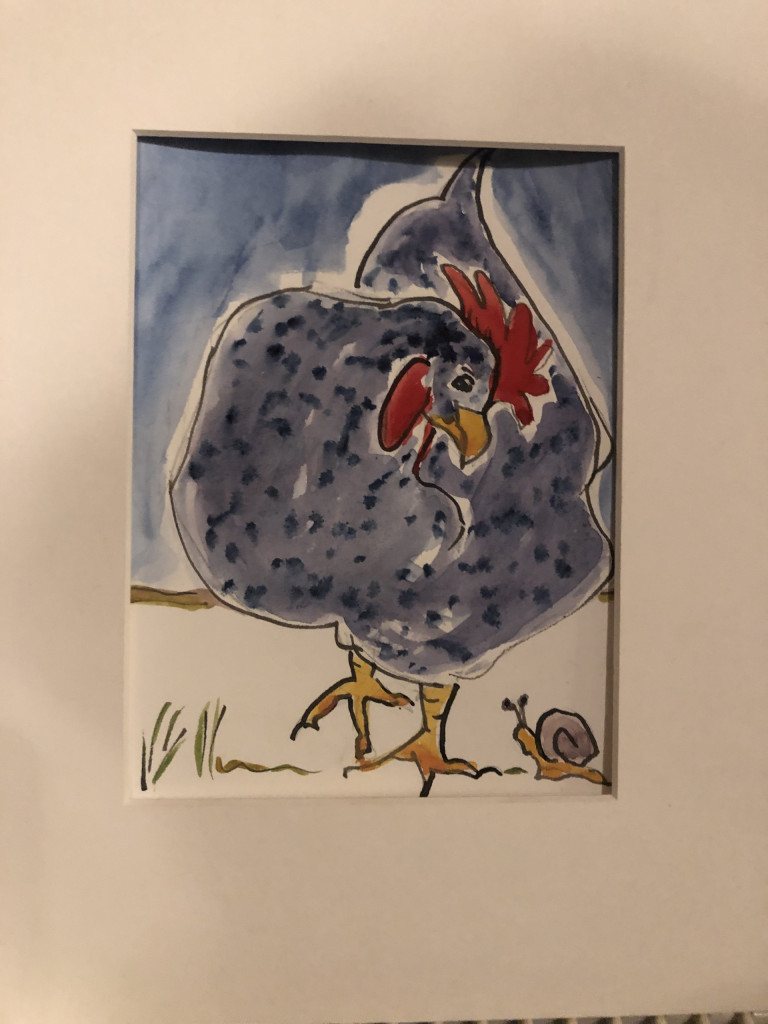 speckledy hen