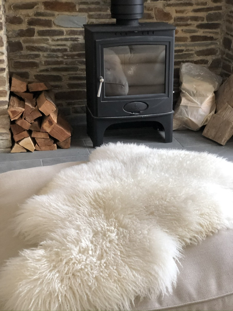 rarebreed sheepskin throw